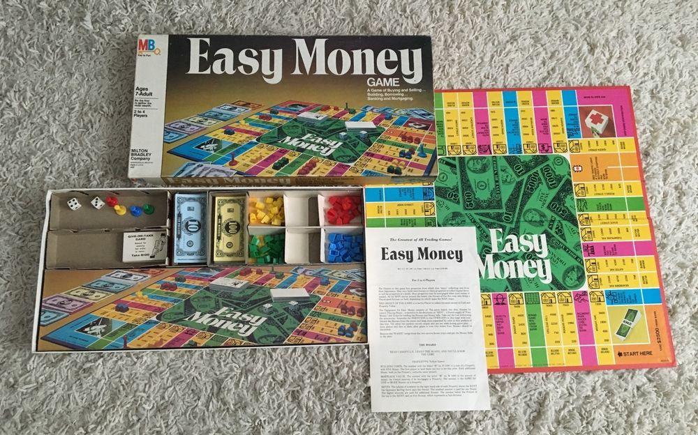 Vintage Easy Money Board Game Milton Bradley