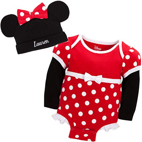 Minnie Mouse Disney Cuddly Bodysuit Set for Baby - Personalizable | Bodysuits | Disney Store