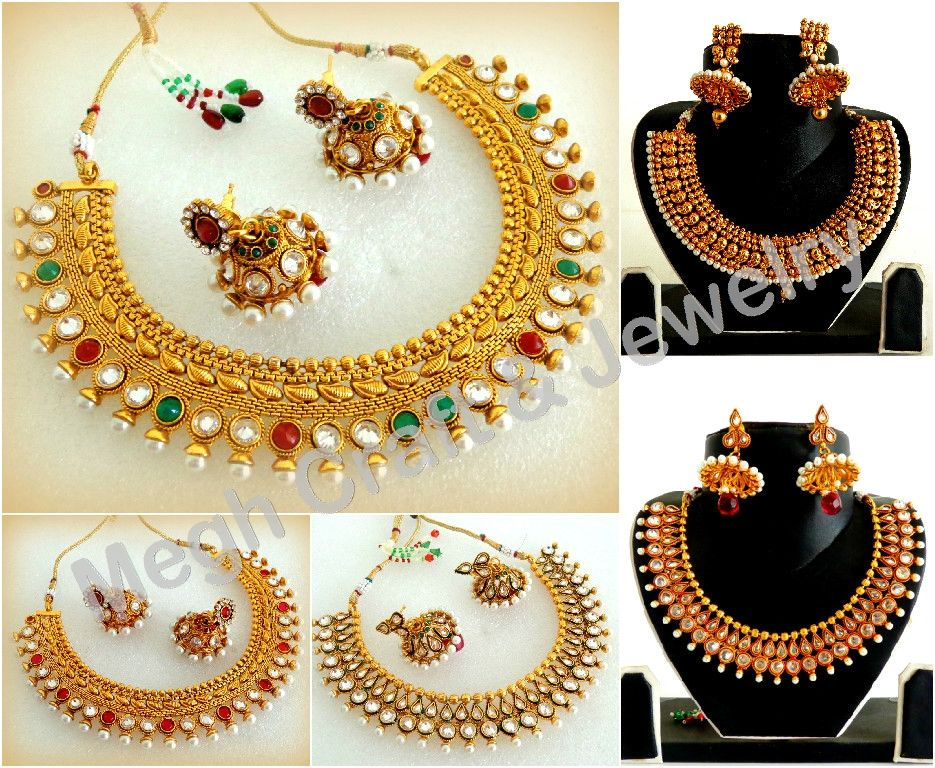 Polki gold plated bridal jewellery For Wholesale Visit