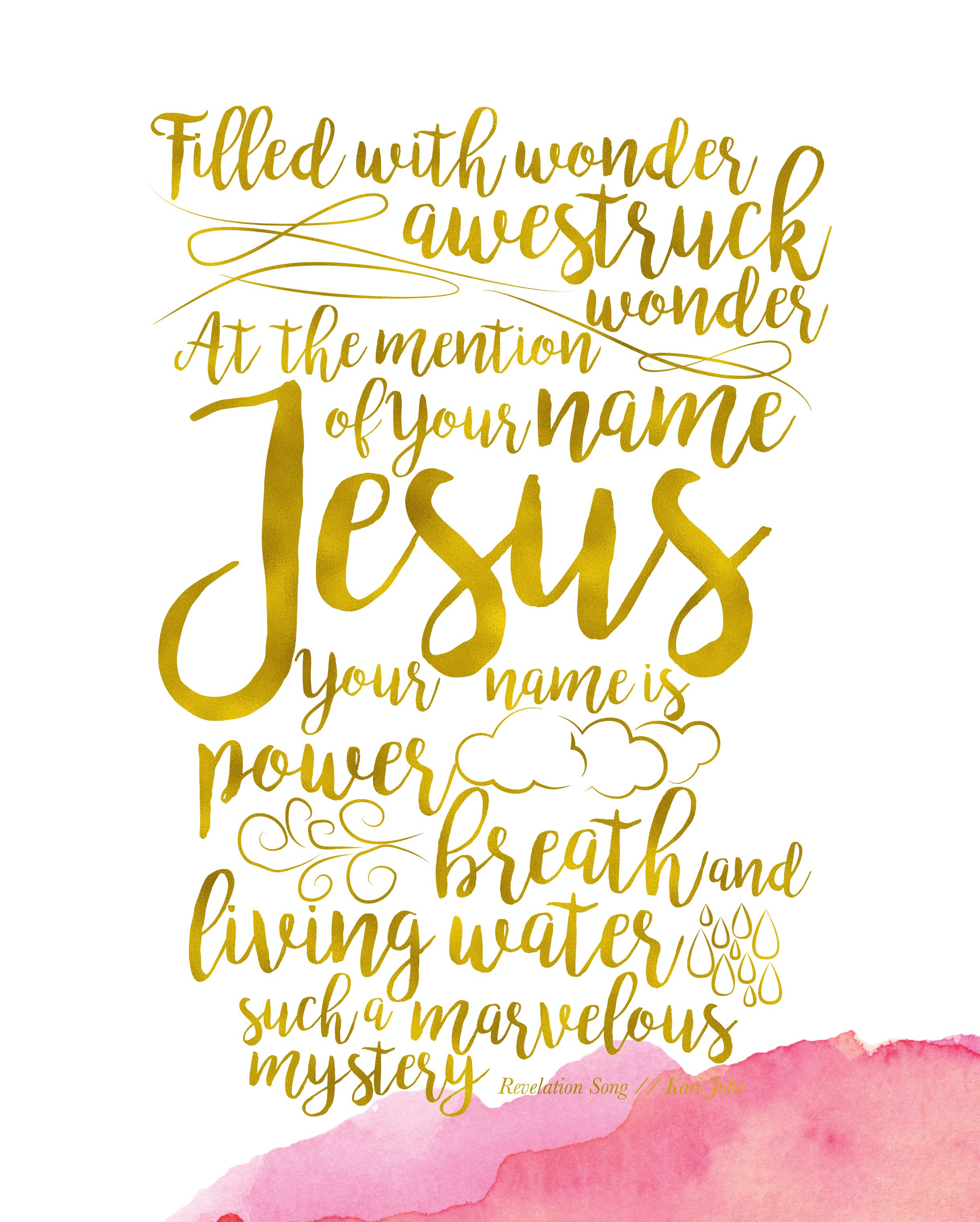 Revelation Song Verse | 8x10 Print Filled with wonder, awestruck ...