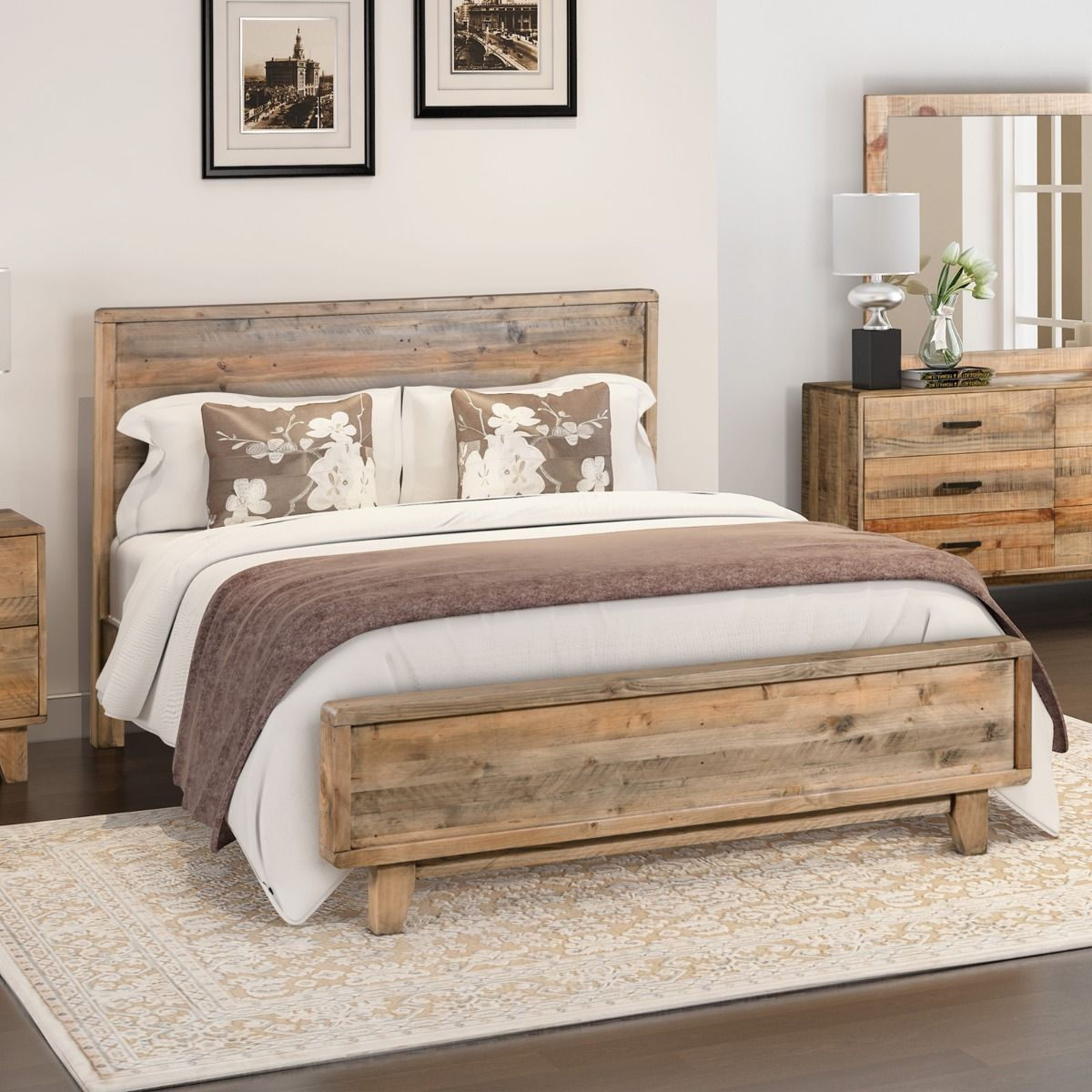 Woodstyle Bedroom Furniture Timber Bed Frame Queen Bed