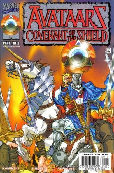 AVATAARS: COVENANT OF THE SHIELD, SERIE LIMITADA COMPLETA DE 3 NÚMEROS, MARVEL, 2.000. USA.