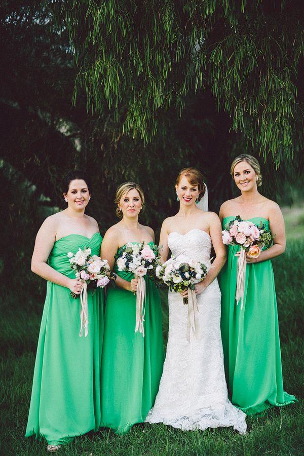 apple green bridesmaid dresses // photo by Natasja Kremers // View more: http://ruffledblog.com/green-australia-wedding/