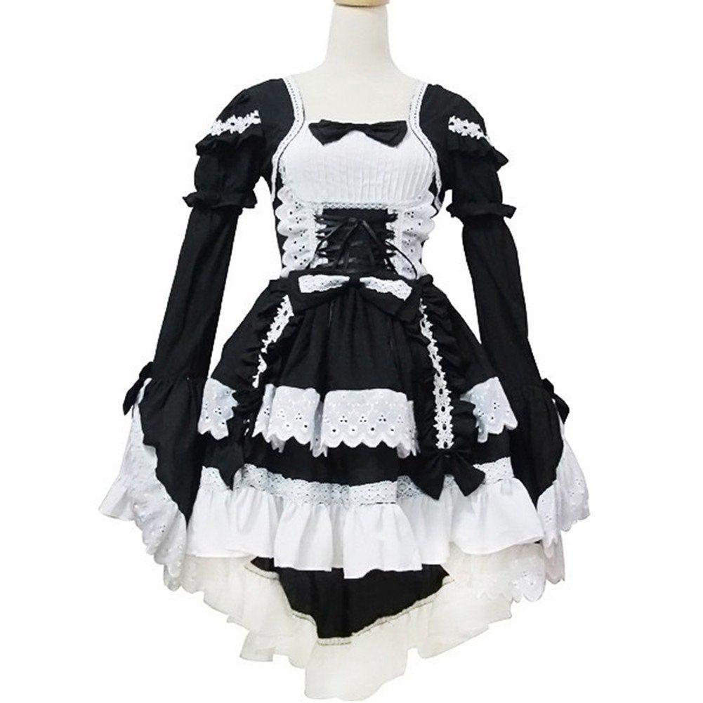 french gothic maid uniform cosplay costume anime lolita