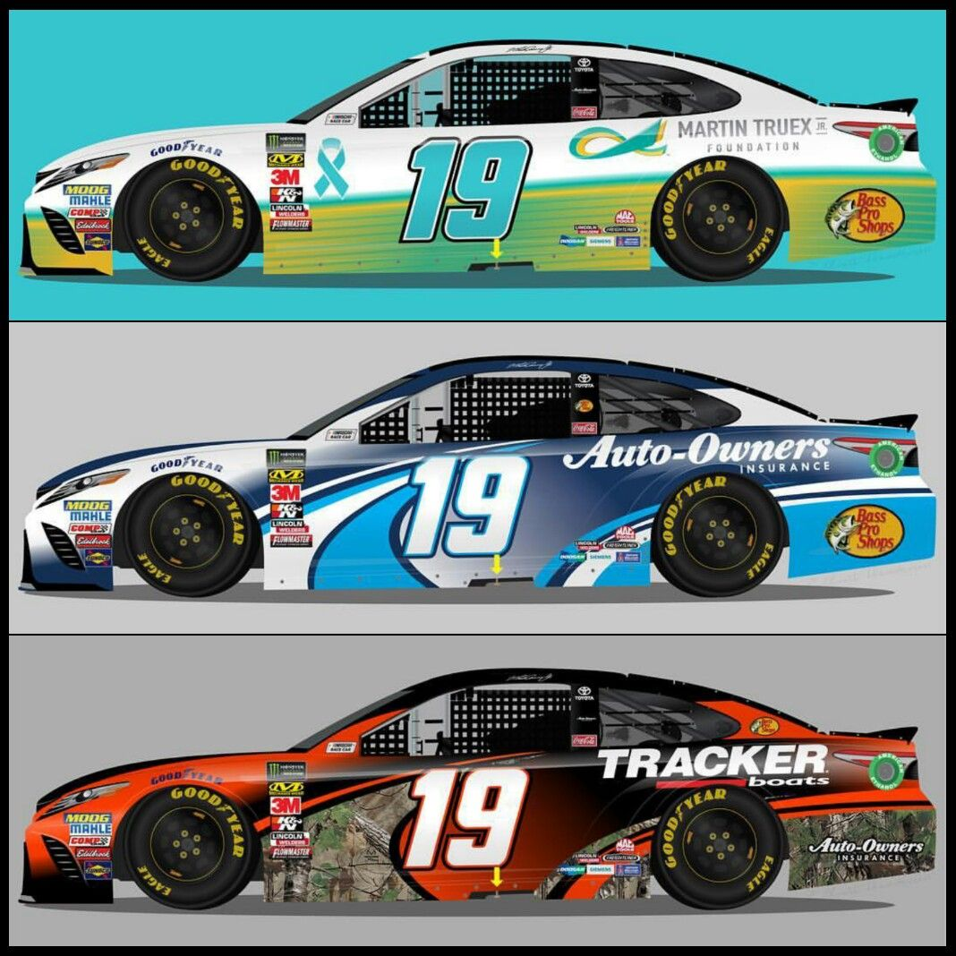 Fan Concept Art Of Possible Paint Schemes For Martin Truex Jr In