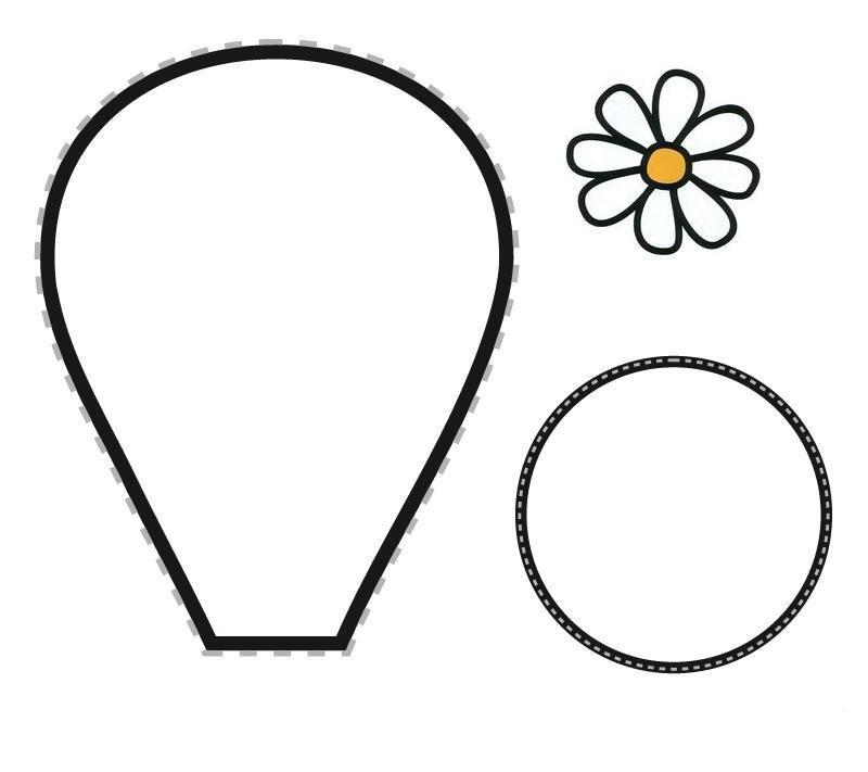 Taller de fieltro: Cómo hacer patrones de flores | Szablony kwiatów ...