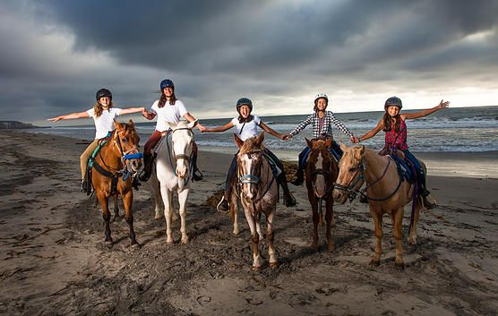 Surfside Ranch offers guided horseback trail and beach rides in the beautiful San Diego, CA area. Other services include parties and pony rides.