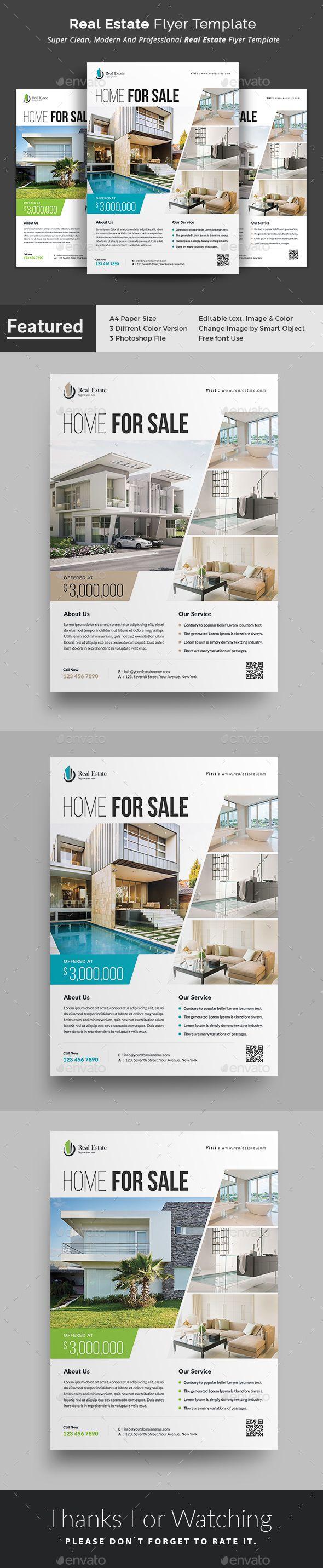 Real Estate Flyer Real Estate Flyers Flyer Template And Template - Photoshop real estate flyer templates