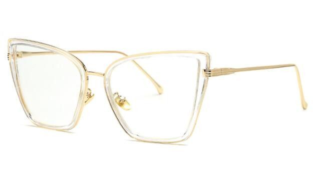 398994a7bf6 Peekaboo Wholesale sexy black cat eye glasses frames for women ladies big  clear glasses women optical frame brand luxury metal