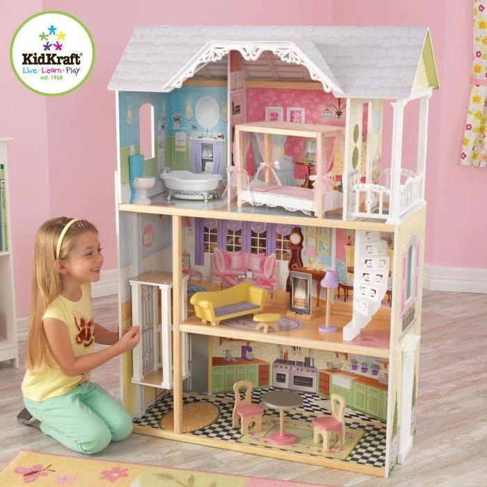 Chambre Fille Kidkraft : Kidkraft maison de poupées en bois kaylee