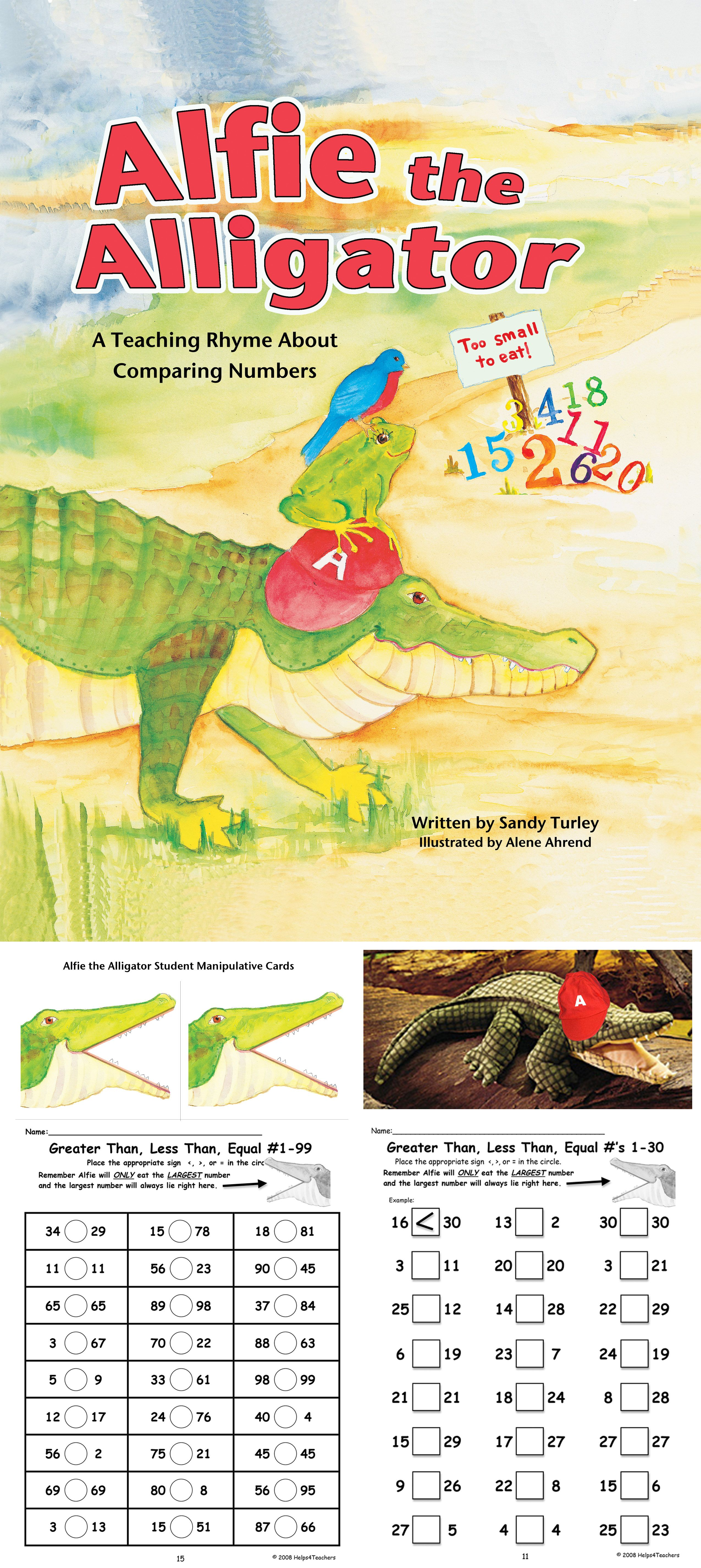 Alfie The Alligator A Teaching Rhyme About Comparing Numbers