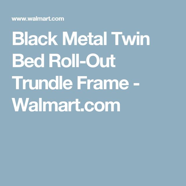 Home Trundle Bed Frame Black Metal Rolls