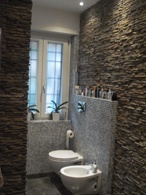Rivestimento pietra ricostruita petra color grigio fumo by primiceri pareti in pietra - Bagno prefabbricato per interni ...