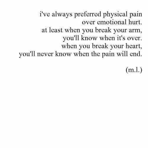 Emotional Pain Quotes: You'll Know When It's Over.