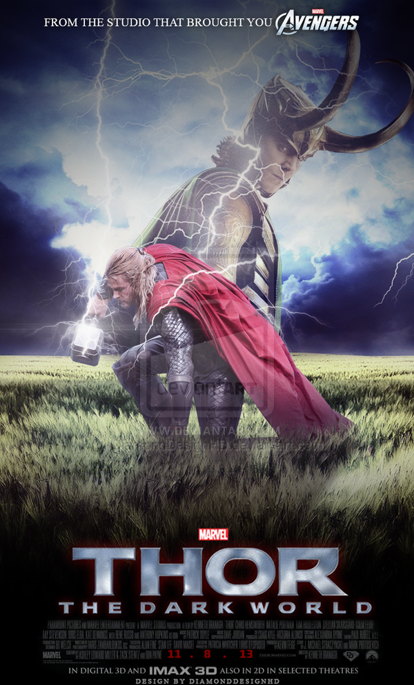 Thor 2 The Dark World Posters Deviantart More Like Thor 2 The Dark World By Super Gamer The Dark World Avengers Superheroes The Mighty Thor