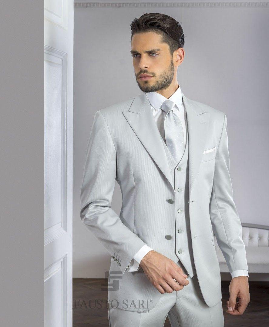 Latest Coat Pant Designs Sliver Italian Men Suit Prom Tuxedo Slim ...