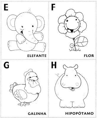 Alfabeto Ilustrado Abecedario Mundinho Da Crianca Atividades