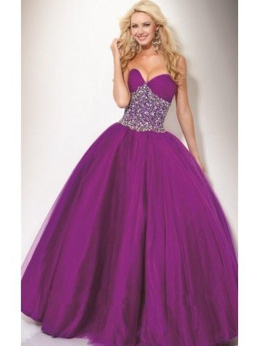 Front: Fascinating Ball Gown Sweetheart Sequin Floor-Length Taffeta Dress