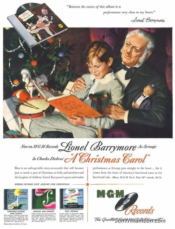Valuable christmas carol and lionel barrymore vintage can recommend