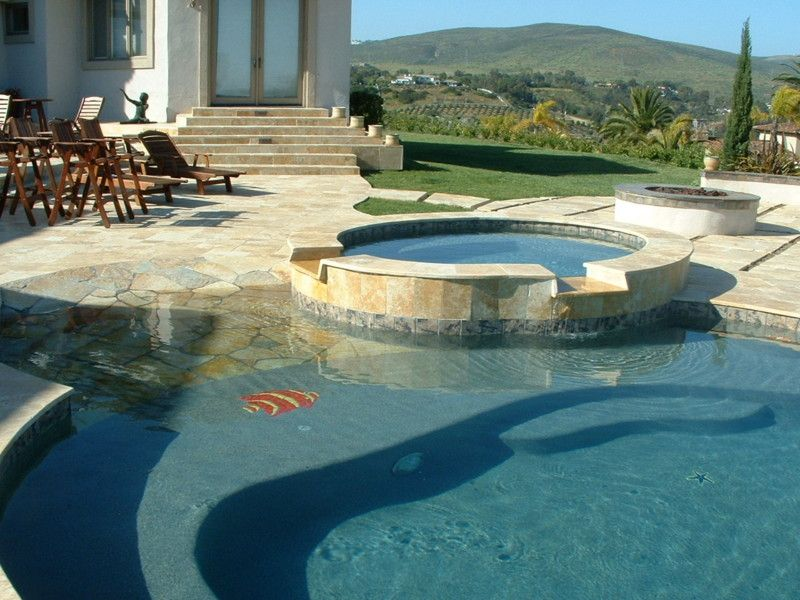 Pool Tile And Coping Ideas pool surround answers granite blue stone or Glamorous Fish Shaped Pool Tiles With Beach Entry Swimming Pool Designs Also Spa Spillover Ideas And