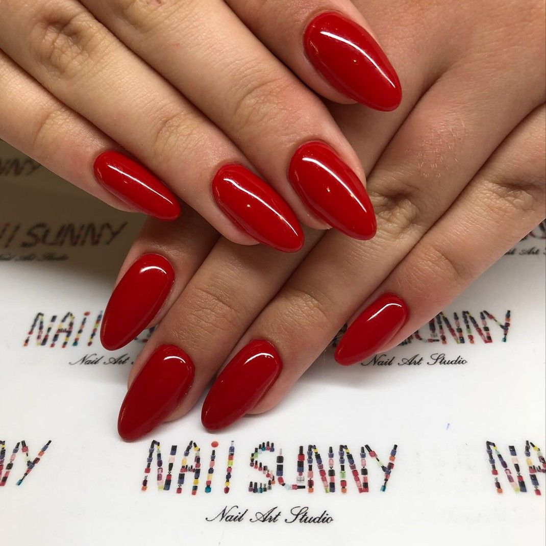 Pin By Diana On Desired Looks Red Acrylic Nails Red Gel Nails Fake Nails