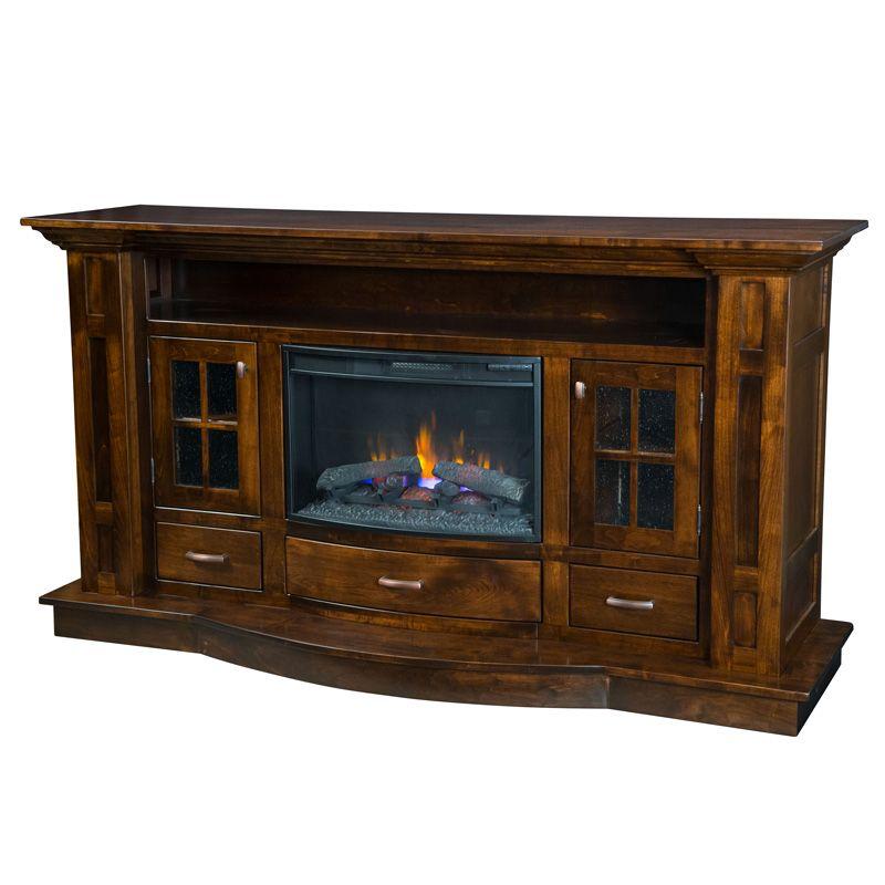 Amish Delgado Fireplace Entertainment Console Furniture Shipshewana Co