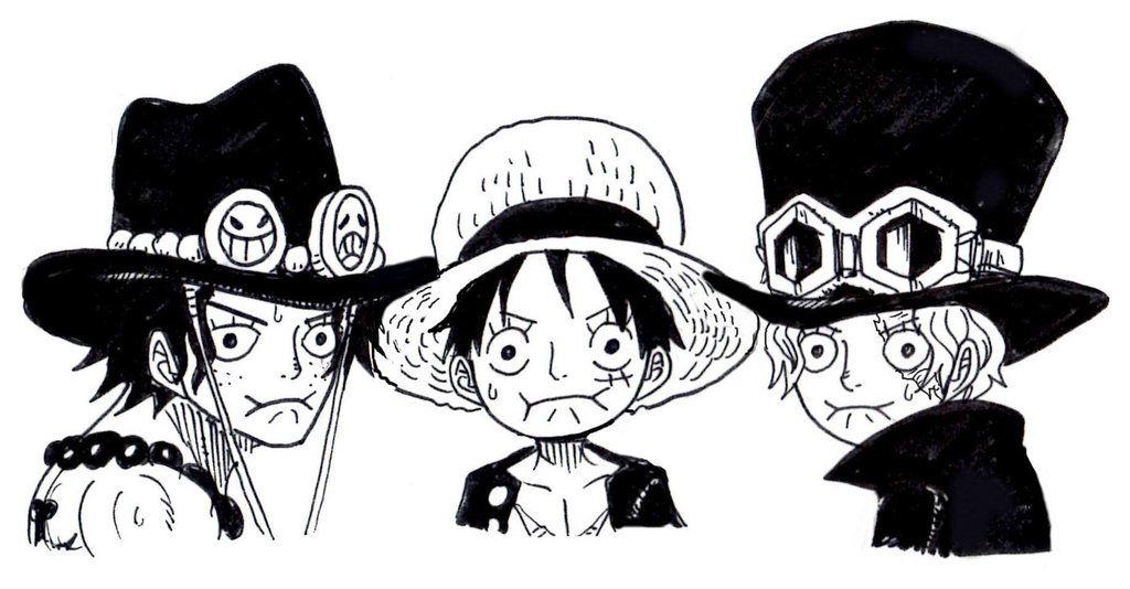 Ace sabo luffy one piece pinterest manga for Dibujos one piece