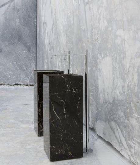 "Acqua"" (Antonio Lupi). powder room option. #marble"