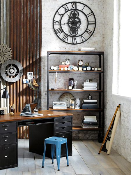 Ordinaire Clock Collection   Industrial Chic Office Space