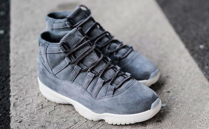 3a3ae87f24013 Air Jordan 11 Grey Suede 914433-003