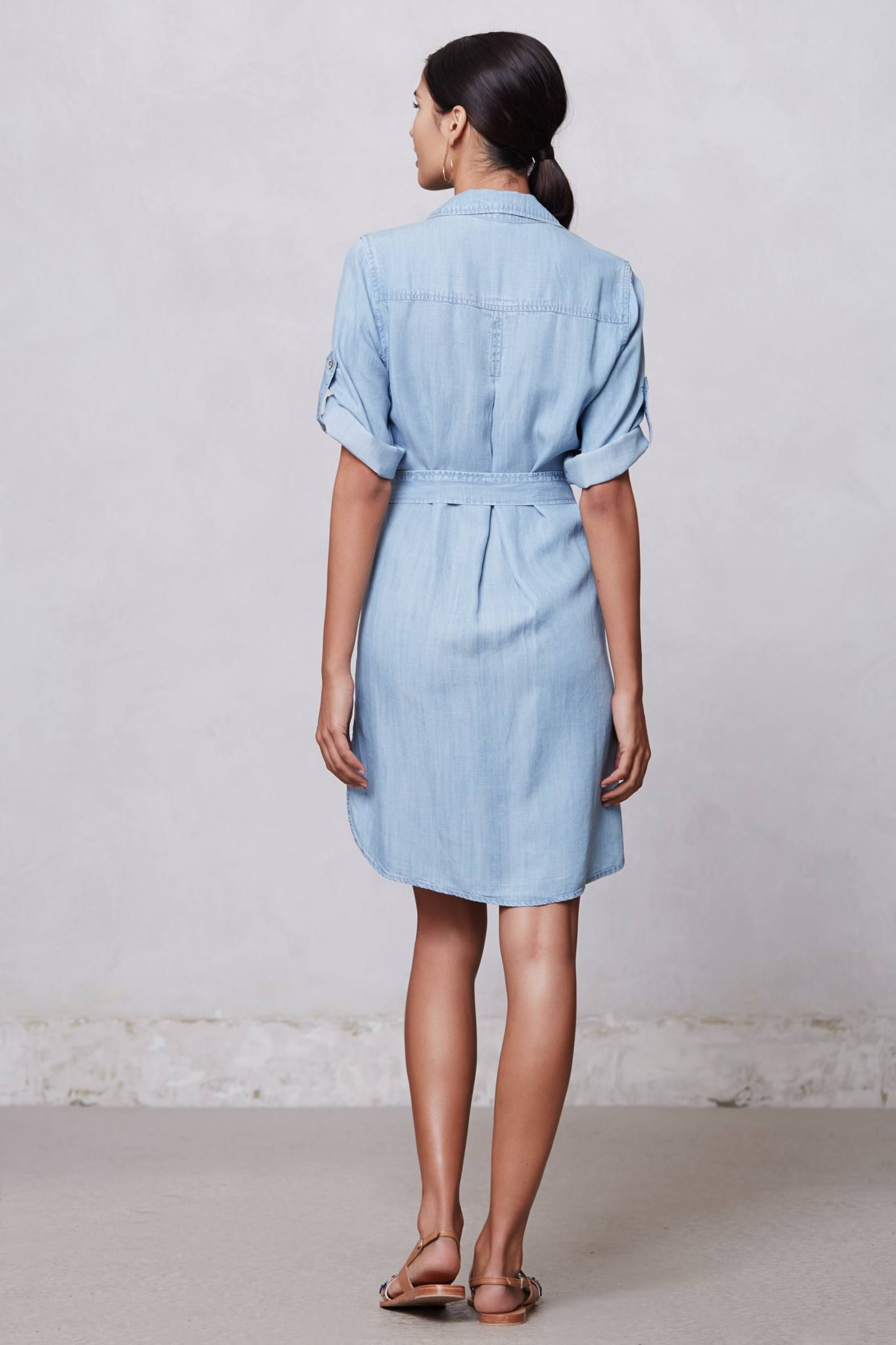 Belted Chambray Shirt Dress Anthropologie Britches Shirt
