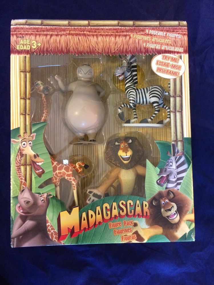 Madagascar Action Figures Pack 4 Poseable Figures From First