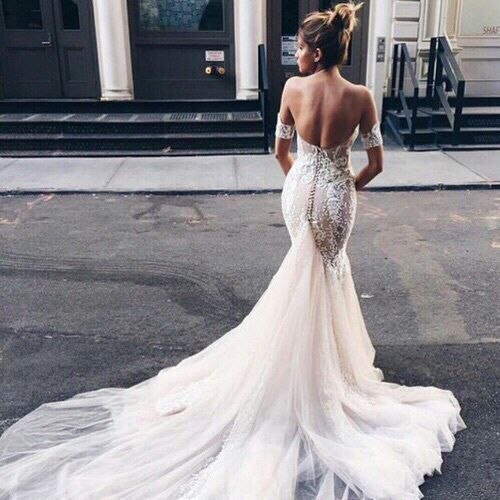 Low Back Wedding Dress With Train Wedding Inspiration Wedding Dresses Backless Wedding Backless Wedding Dress