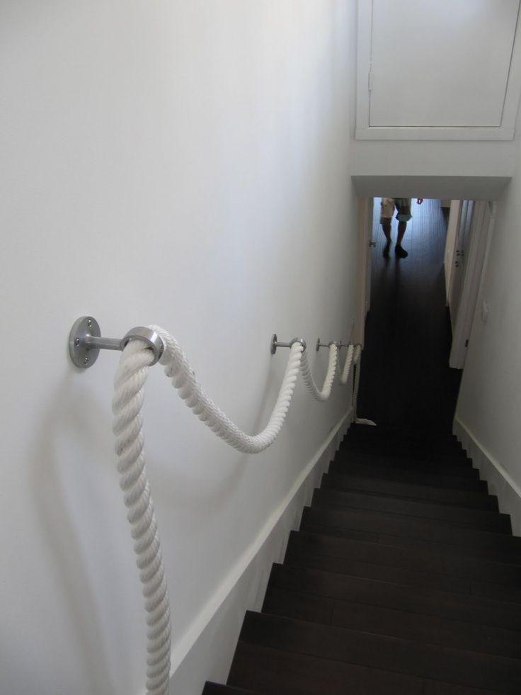 trapleuning touw praxis | Woonkamer | Pinterest - Touw, Trappen en ...