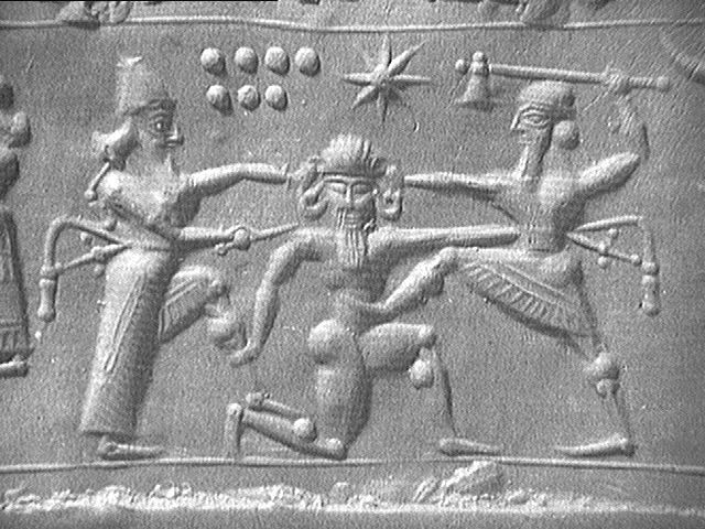 Epic of Gilgamesh   The story centers on a friendship between Gilgamesh and Enkidu, a wild man created by the gods as Gilgamesh's equal. They journey to the Cedar Mountain to defeat Humbaba, its monstrous guardian. Later they kill the Bull of Heaven, which the goddess Ishtar sends to punish Gilgamesh for spurning her advances. As a punishment for these actions, the gods sentence Enkidu to death.