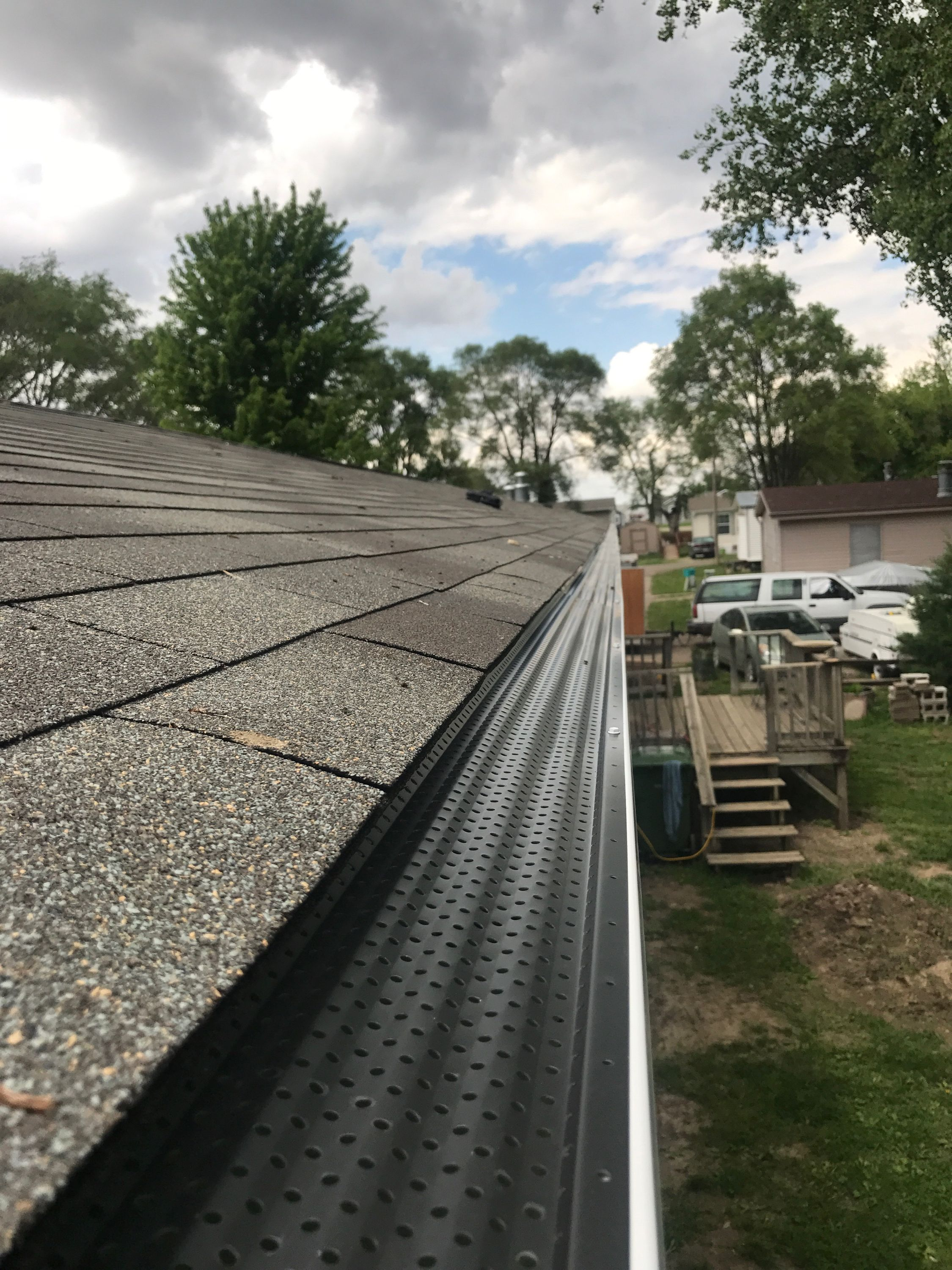 Pin By Joe Gutters Llc On Leaf Protection Our Form Of Gutter Helmet And Gutter Rx Gutter Helmet Railroad Tracks Gutter
