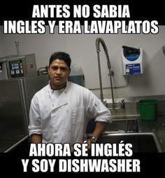 Antes No Sabia Ingles Y Era Lavaplatos Miles De Imagenes Divertidas Para Enviar O Compartir Memes Divertidos Memes Chistosisimos Humor En Espanol
