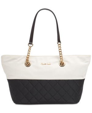 Calvin Klein Florence Top Zip Small Tote White With Images Small Tote Tote Handbag Accessories