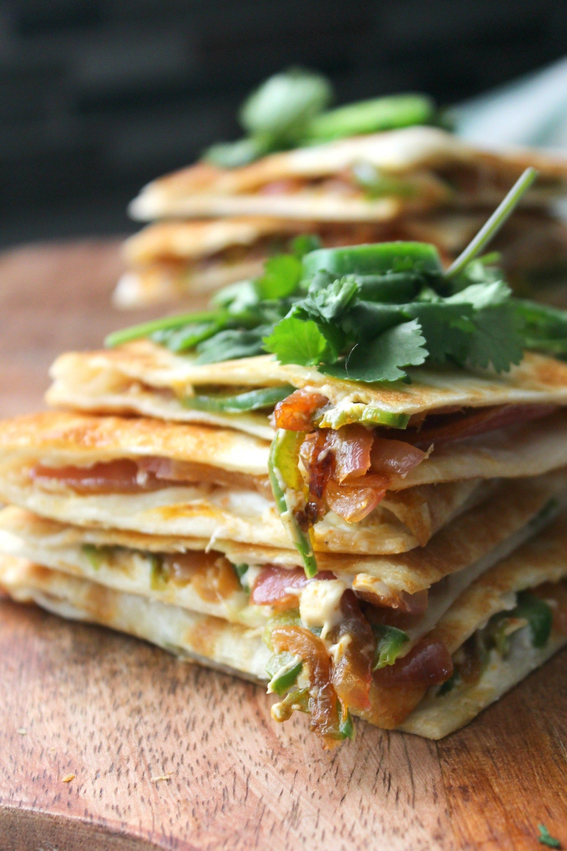 Vegan Jalapeño Popper Quesadillas
