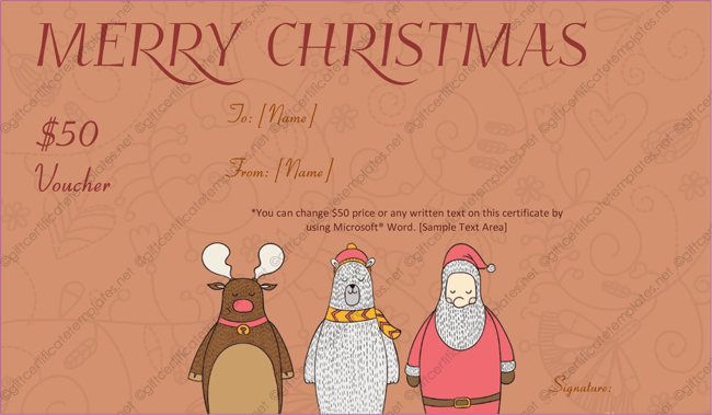 Santa Christmas Christmas Certificate Free Download  Merry