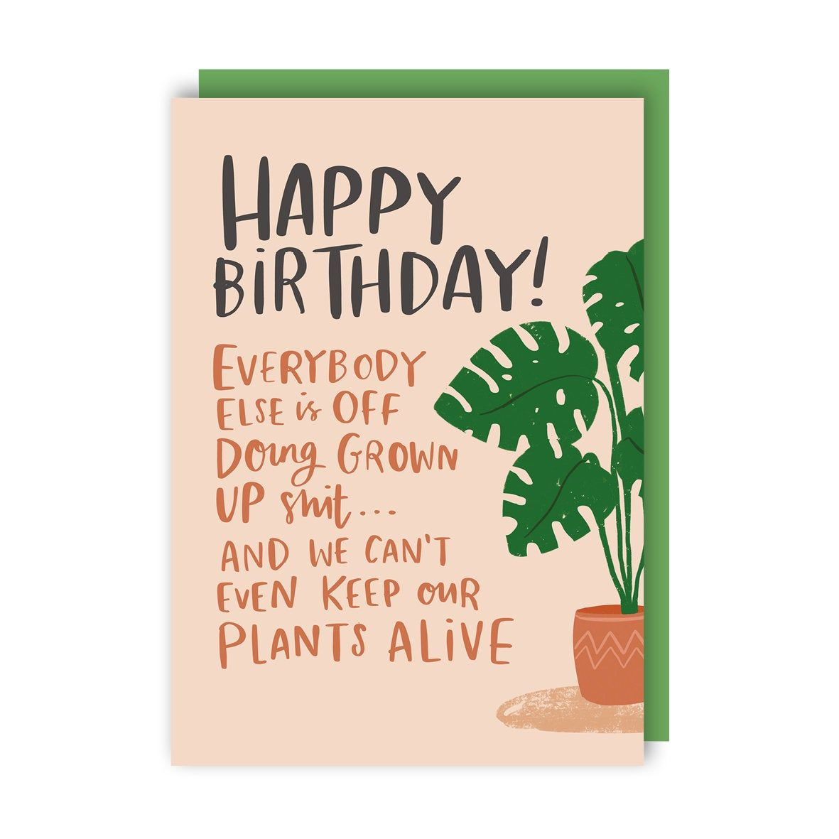 Plants Birthday Card Funny Humour Drinking Grown Up Etsy Funny Birthday Cards Birthday Cards Birthday Humor