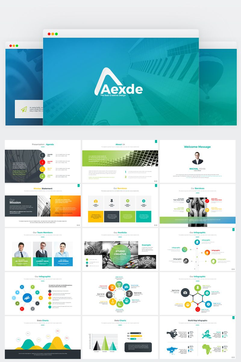 Aexde PowerPoint Template 71930 Illustration Artworks