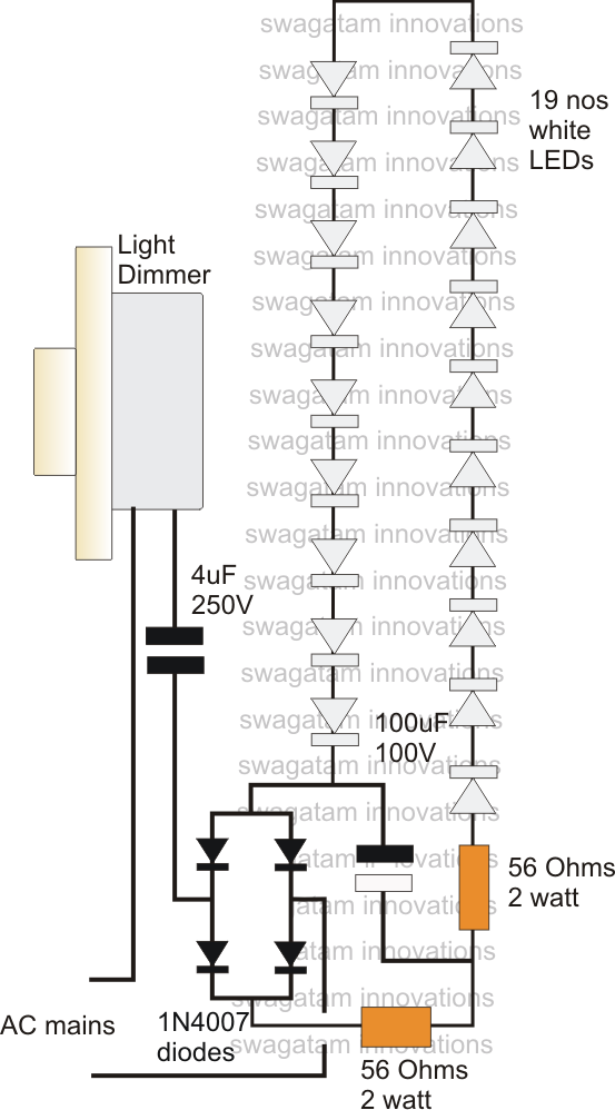 Led Driver Power Supply Circuit Using Dimmer Switch Electrotecnia Circuito Electronico Diagrama De Circuito Electrico