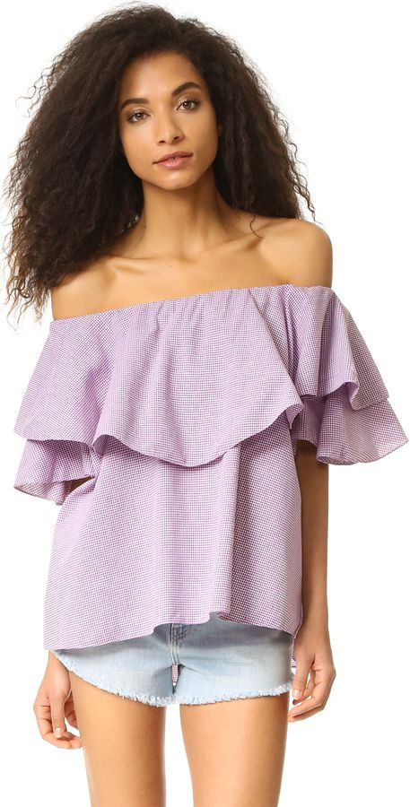 879a9f1ca00210 MLM LABEL Maison Off Shoulder Top | fashion.obsessed. | Tops, Off ...