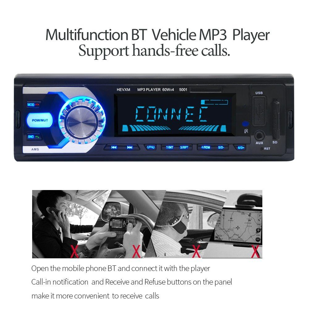 labo 1din in dash car radio bluetooth stereo player handsfree aux inlabo 1din in dash car radio bluetooth stereo player handsfree aux in usb
