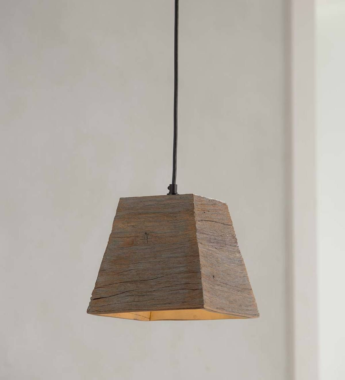 This Pendant Light Is Full Of Unique Character And Rustic Charm Handmade In India It Features Respon Wood Pendant Light Square Pendant Lighting Pendant Light