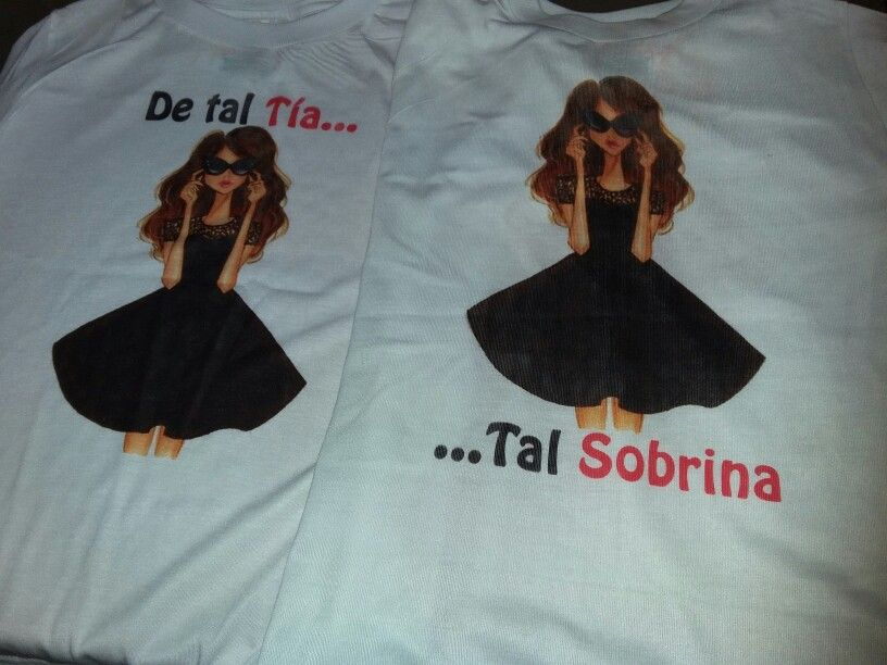 74828b80f00 De tal tia tal sobrina Camisetas Con Frases, Pintar Camisetas, Frases Para  Tias,