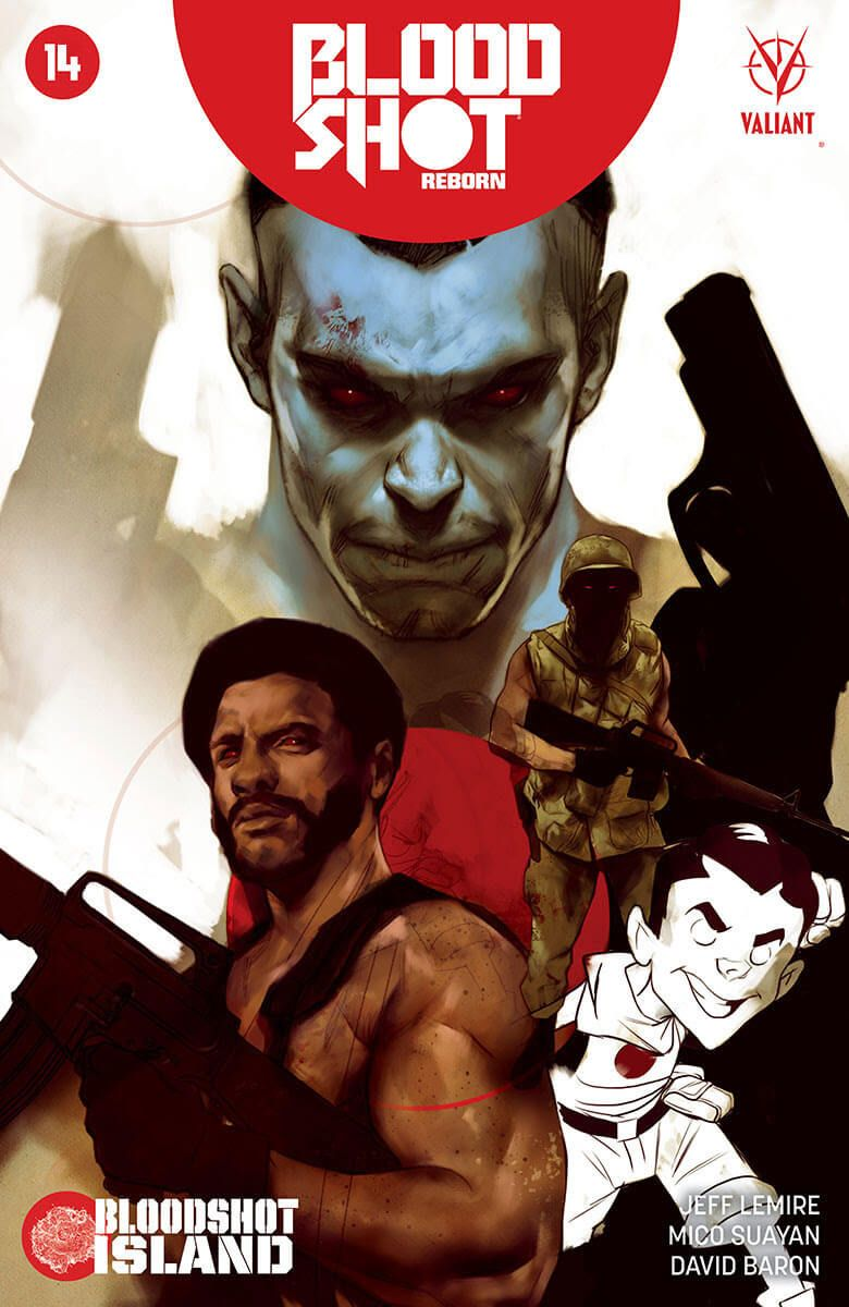 C2E2 2016: DEATHMATE Stands Revealed as Jeff Lemire & Mico Suayan Descend on BLOODSHOT ISLAND – Beginning in BLOODSHOT REBORN #14 in June!, This summer, DEATHMATE strikes…as superstar creators Jeff Lemire and Mico Suayan launch Bloodshot into the most punishing confrontation of the summe...,  #BenOliver #Bloodshot #bloodshotisland #BloodshotReborn #BloodshotReborn#14 #C2E2 #C2E22016 #ClaytonHenry #DarickRobertson #Deathmate #JeffLemire...