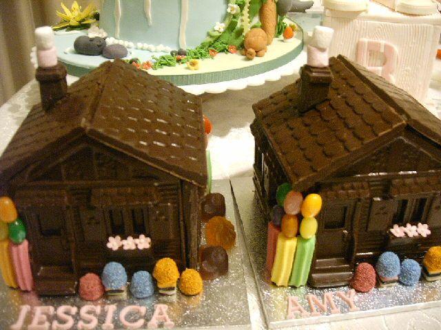 Chocolate houses.