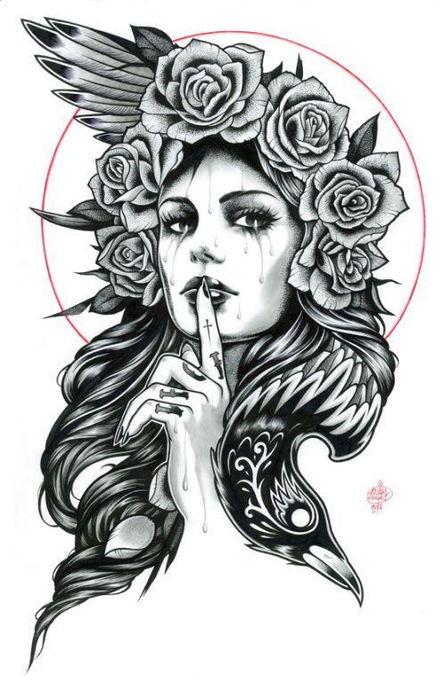 50 Disenos De Catrinas Y Bocetos Para Tatuajes De Calaveras